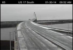 ice on ravenel bridge