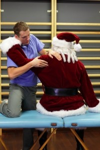 Santa at the Charleston , SC chiropractor