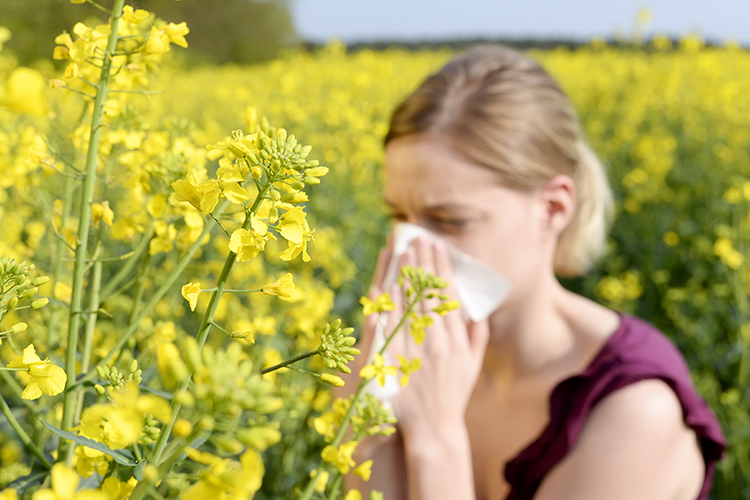 Woman with Spring and Summer Allergies